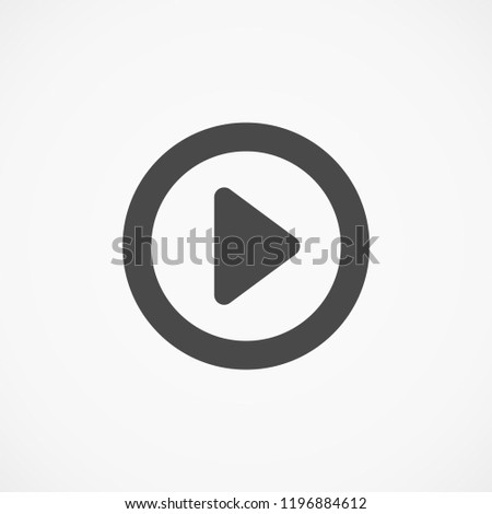 button player vector icon #1196884612