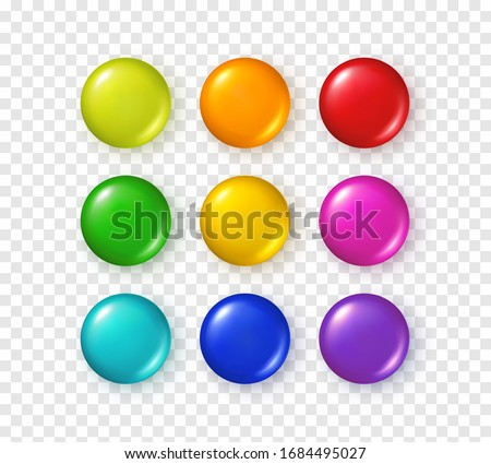 button set isolated on