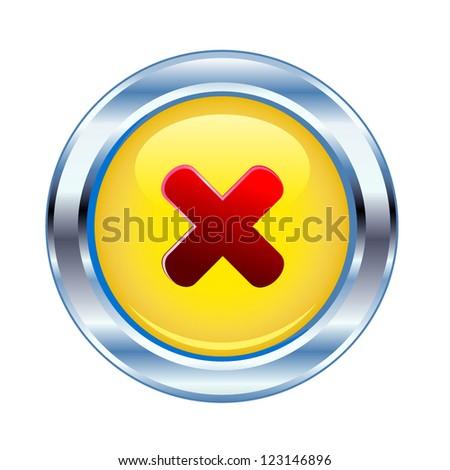 Button symbols to ban. - stock vector