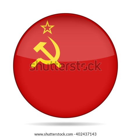 button with national flag of