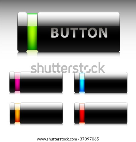 Buttons for web design. Vector.