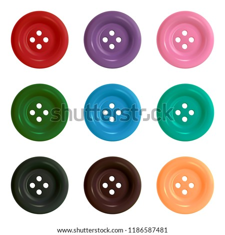 Buttons. Set of multicolored buttons. Vector illustration.
