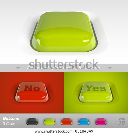 Buttons. Vector illustration - stock vector