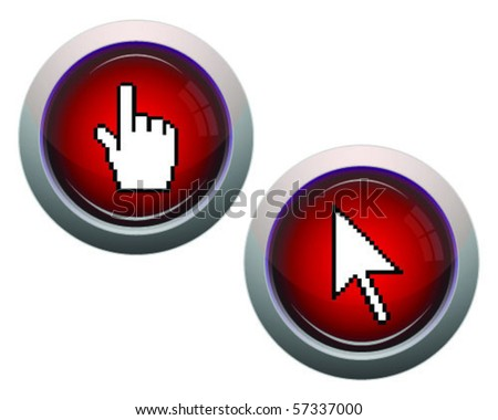 buttons with cursor-vector