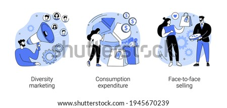 Buy and sell product abstract concept vector illustrations.