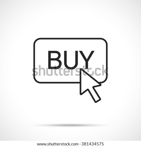 Buy Button. Buy icon. Buy now symbol