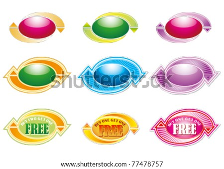 Buy 1 get 1 Free with arrows design editable vector Graphics