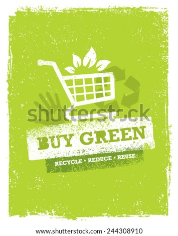 Buy Green Eco Shopping Cart. Organic Food Nature Friendly Vector Concept  - Shutterstock ID 244308910