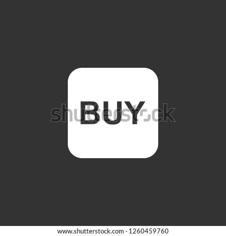 BUY icon vector. BUY sign on black background. BUY icon for web and app