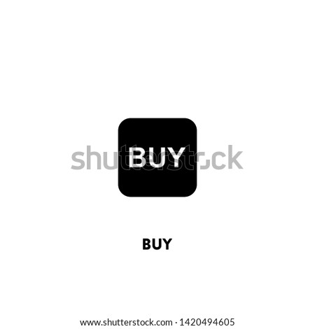 buy icon vector. buy sign on white background. buy icon for web and app