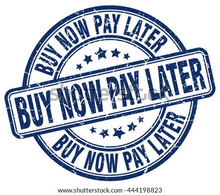 buy now pay later blue grunge