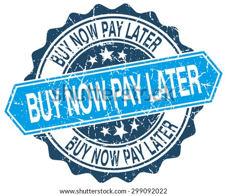 buy now pay later blue round