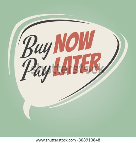 buy now pay later retro cartoon