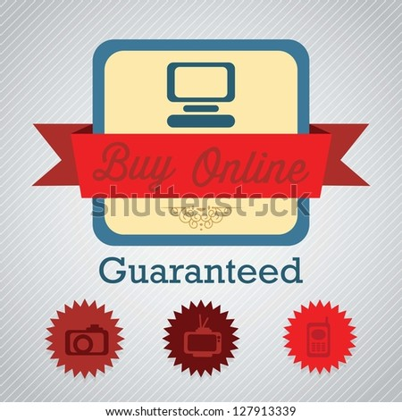 Buy Online Label of guaranteed. Vector illustration
