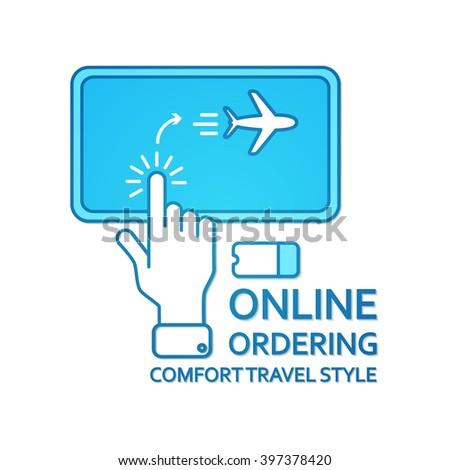 Buy Ticket Online. Online Ordering. Transport Concept. Vector illustration