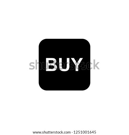 BUY vector icon. BUY sign on white background. BUY icon for web and app
