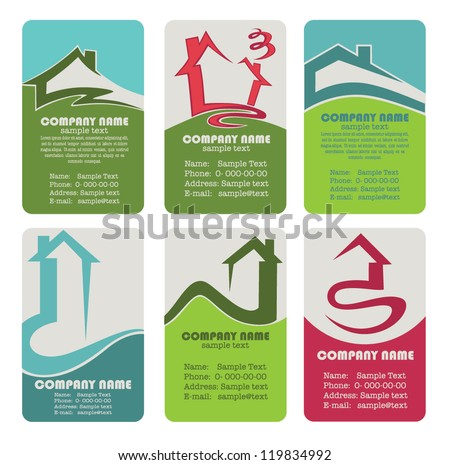 Real estate card vector designs download free vector art stock buy your own home vector collection property and real estate business cards reheart Choice Image