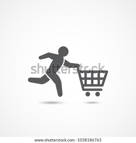 Buyer icon on white background