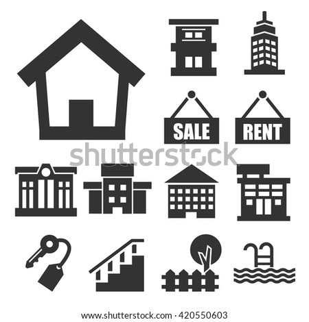 buying home icon set