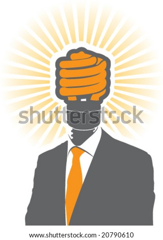 Buziness Man Head - stock vector