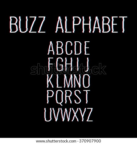 buzz alphabet glitch