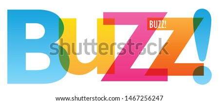 BUZZ! colorful vector typography banner Photo stock ©