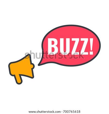 buzz  megaphone with speech