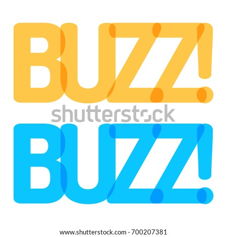 buzz  two vector illustrations