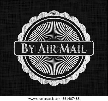 By Air Mail chalk emblem