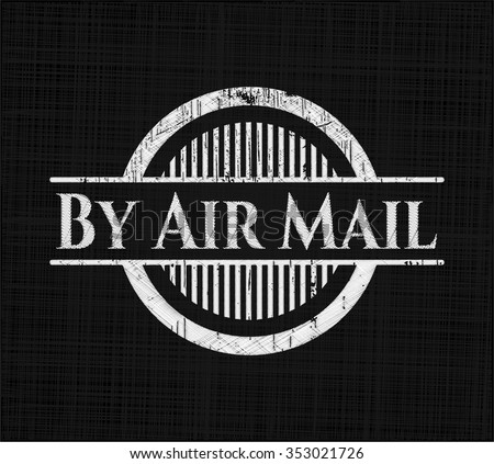 By Air Mail chalkboard emblem
