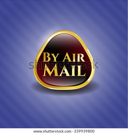 By Air Mail gold emblem
