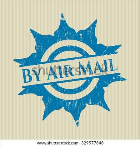 By Air Mail grunge seal