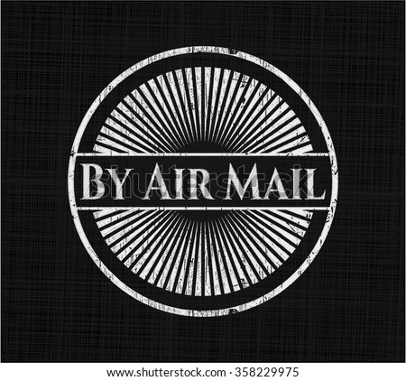 By Air Mail on chalkboard