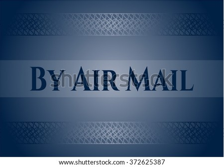 By Air Mail retro style card, banner or poster
