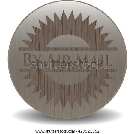 By Air Mail retro wood emblem