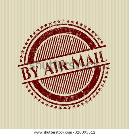 By Air Mail rubber grunge seal