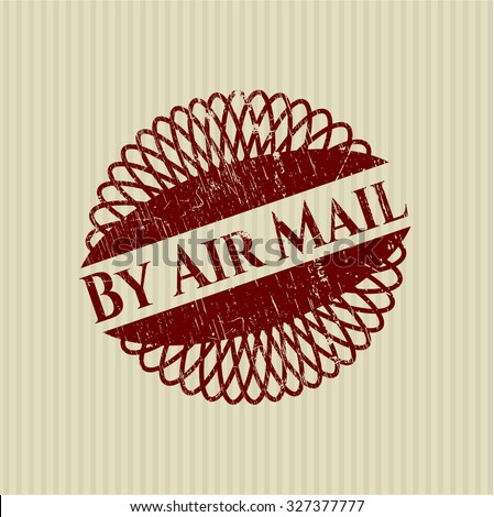By Air Mail rubber grunge texture seal