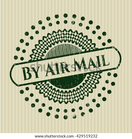 By Air Mail rubber grunge texture stamp