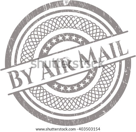 By Air Mail rubber seal with grunge texture