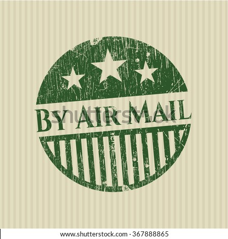 By Air Mail rubber stamp