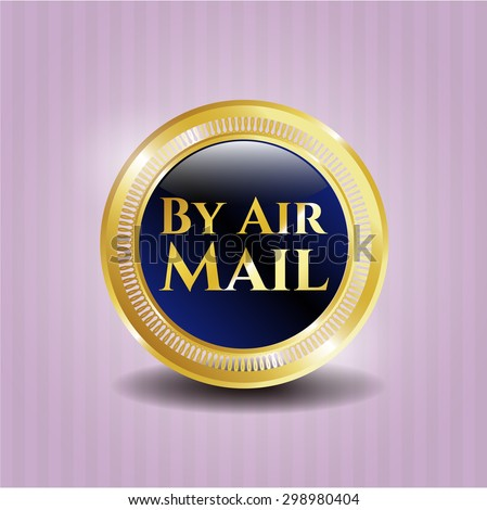 By Air Mail shiny badge
