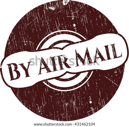 By Air Mail with rubber seal texture