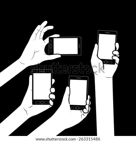 Byod design over black background, vector illustration