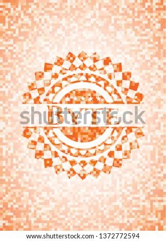 Byte orange mosaic emblem
