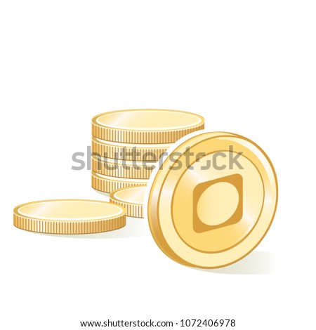Byteball Bytes Cryptocurrency Coin Gold Stacks