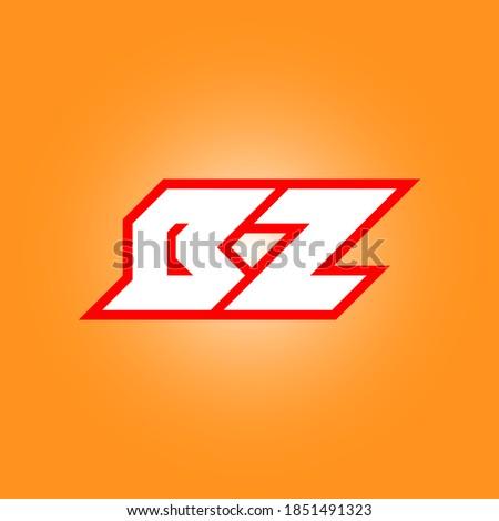 BZ logo design, initial BZ letter design with sci-fi style. BZ logo for game, esport, Technology, Digital, Community or Business. B Z sport modern Italic alphabet font. Typography urban style fonts. Zdjęcia stock ©