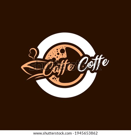 C and Caffe Coffe logo designs, suitable for coffee and caffe drink brands Foto d'archivio ©