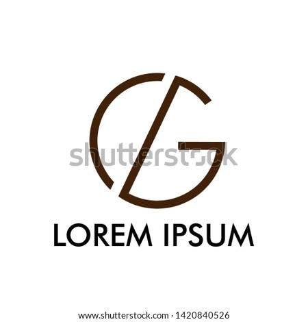 C and G initial letter logo icon for business name or beauty and fashion company Stock fotó ©