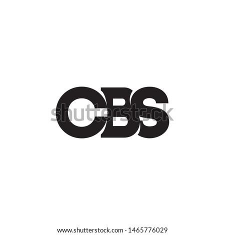 C B S letter logo design vector