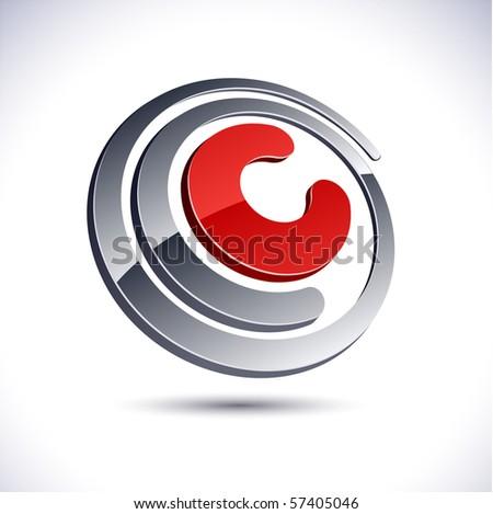 c 3d vector icon such logos
